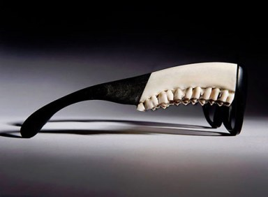 Artist Emma Montague creates sunglasses from real deer mandibles, natural horn and acetate - yes, she has ties to the British Deer Society.